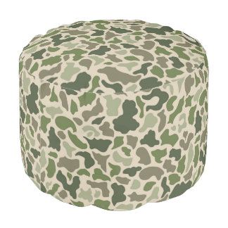 military camouflage pouf