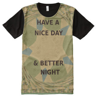Military camouflage seamless Apparel All-Over tee All-Over Print T-Shirt