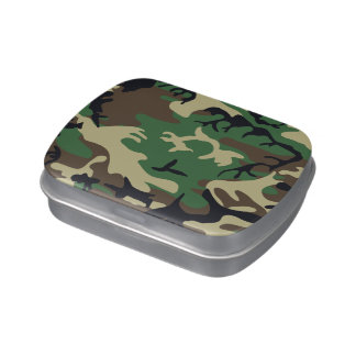 Military Camouflage Candy Tins