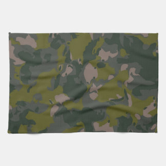 Military camouflage tea towel