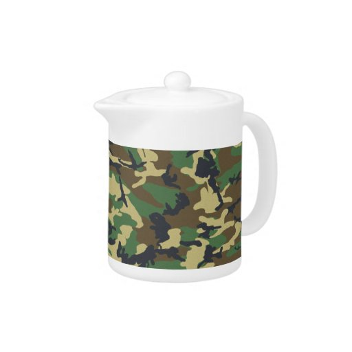 Military Camouflage Teapot