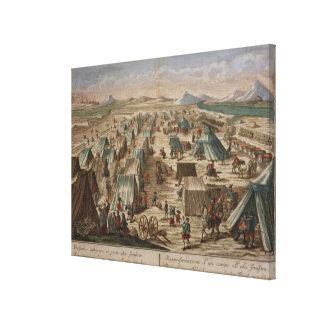 Military camp, c.1780 stretched canvas print