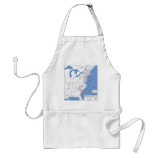 Military Campaigns of the American Revolution Apron