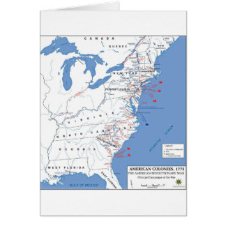 Military Campaigns of the American Revolution Greeting Card