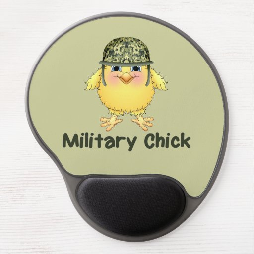 Military Chick Gel Mousepads