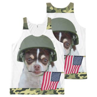 Military chihuahua dog All-Over print tank top