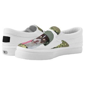 Military chihuahua dog printed shoes