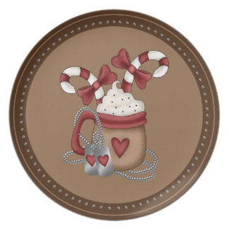 Military Christmas Party Plates