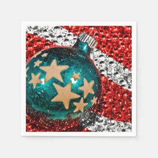 Military Christmas Stars Stripes Holiday Design Paper Serviettes