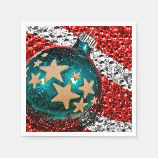 Military Christmas Stars Stripes Holiday Design Paper Serviettes