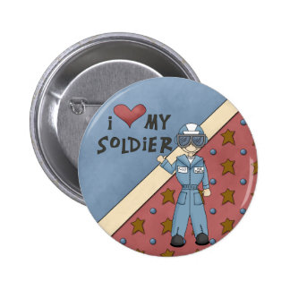 Military Collection Air Force Soldier Man Button