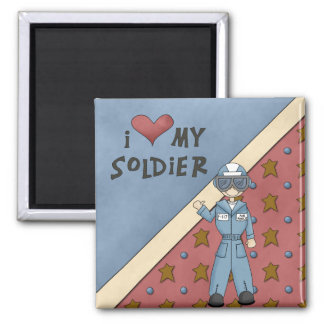Military Collection Air Force Soldier Man Magnet