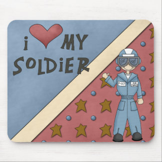 Military Collection Air Force Soldier Man Mousepad
