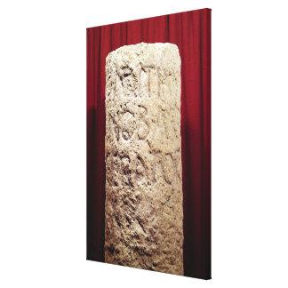 Military column of Domitius Ahenobarbus Stretched Canvas Print