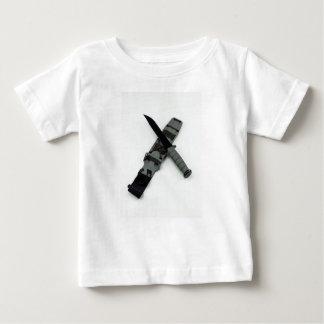 military combat knife cross pattern ka-bar style baby T-Shirt