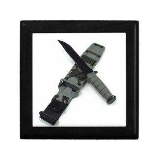 military combat knife cross pattern ka-bar style gift box
