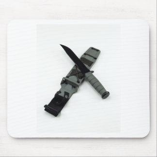 military combat knife cross pattern ka-bar style mouse pad