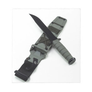 military combat knife cross pattern ka-bar style notepad