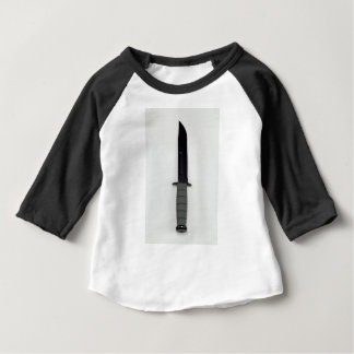 military combat knife vertical  ka-bar style baby T-Shirt