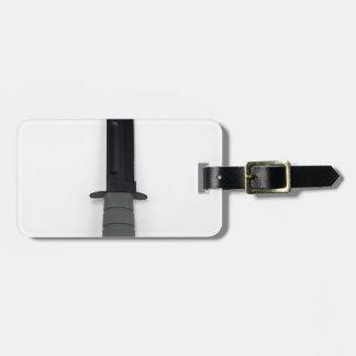 military combat knife vertical  ka-bar style luggage tag