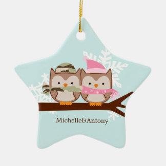 Military Couple Christmas Ornaments