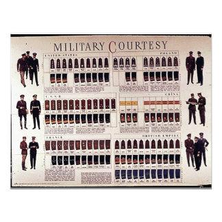 Military Courtesy Personalized Invites