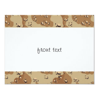 "Military Desert Camouflage Background 4.25"" X 5.5"" Invitation Card"