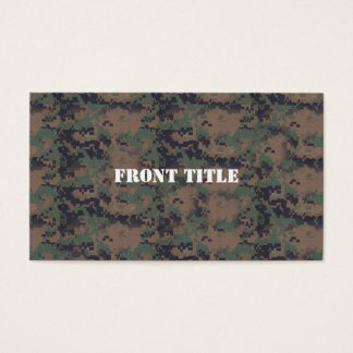 Military Digital Woodland Background Business Card