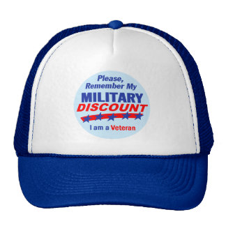 MILITARY DISCOUNT Hat