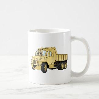 Military Dump Truck Cartoon Sand Basic White Mug