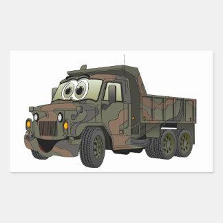 Military Dump Truck Cartoon Stickers
