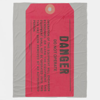 Military Electrician Danger Tag Fleece Blanket