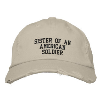 military embroidered hat