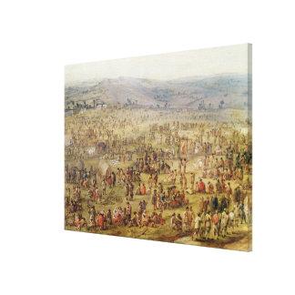Military Encampment Gallery Wrap Canvas