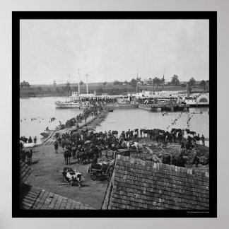 Military Evacuation at Port Royal, VA 1864 Poster