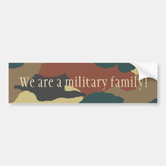 Military Family Camouflage Bumper Sticker