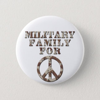 Military Family for Peace 6 Cm Round Badge