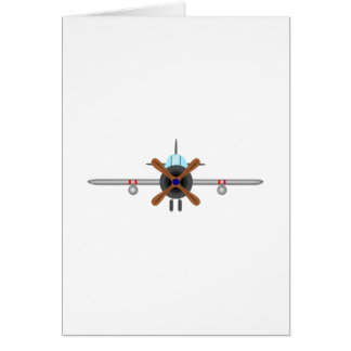 Military Fighter Airplane Card