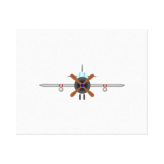 Military Fighter Airplane Gallery Wrap Canvas