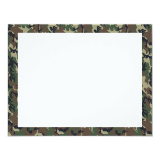 Military Forest Camouflage Background 11 Cm X 14 Cm Invitation Card