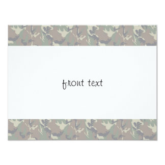 "Military Forest Camouflage Background Lightened 4.25"" X 5.5"" Invitation Card"