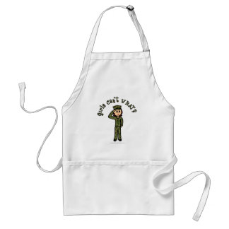 Military Girl - Red Hair Aprons