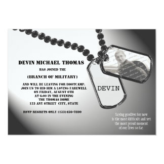 Military Going Away Party 13 Cm X 18 Cm Invitation Card