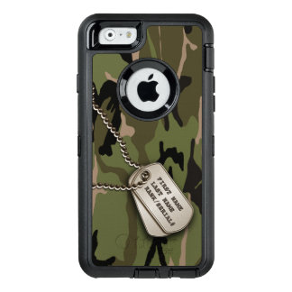 Military Green Camo w/ Dog Tag OtterBox iPhone 6/6s Case