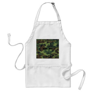 Military Green Camouflage Adult Apron