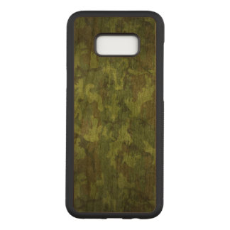 Military green camouflage army print carved samsung galaxy s8+ case