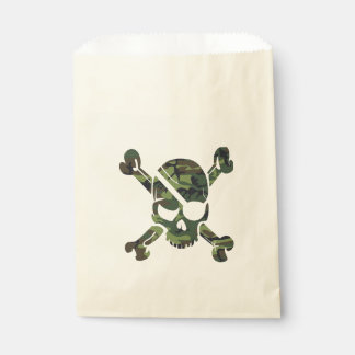 Military green camouflage army print favour bag