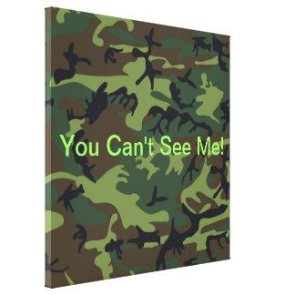 Military Green Camouflage Canvas Print