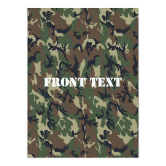 Military Green Camouflage Pattern Card