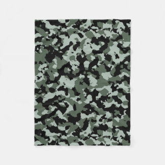Military Green Camouflage Pattern Fleece Blanket